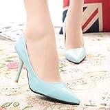 Yukun Schuhe mit hohen Absätzen Damenschuhe Der Hohen Ferse-Frauen Arbeiten Damen-Mode, Hellblaues, 38