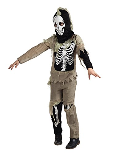 Seiler24 Zombie Skelett Jungen Kinder Kostüm 10-12 (Zombie Skelett Kostüme)