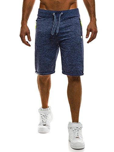 OZONEE Herren Hose Shorts Kurzhose Sporthose Fitness Freizeitshorts Jogginghose Bermudas STREET STAR 7132 DUNKELBLAU XL (Sommer-stars)