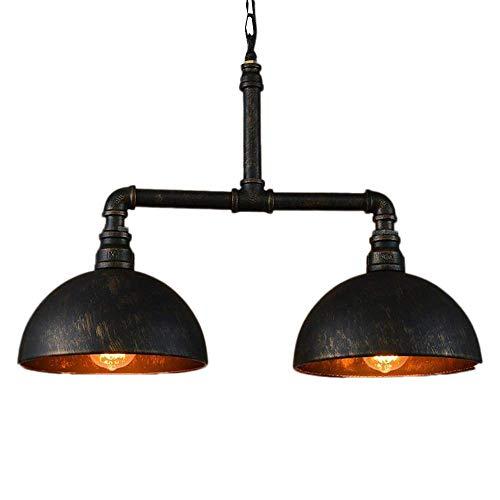 Zhang yan zyy loft americano paese industriale retro flush mount luce di soffitto lampada paralume in ferro battuto 2-luci tubo dell'acqua lampadario vintage caldo classico ristorante soggiorno