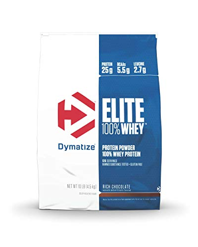 Dymatize Elite Whey Protein Chocolate, 1er Pack (1 x 4,54 kg) -