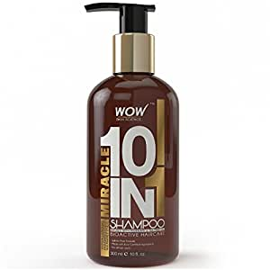 WOW Miracle 10 in 1 Shampoo, 300ml - No Parabens & Sulphates