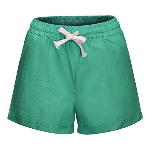 PorLous Förderung,Shorts, 2019 Damen Sport Mode Frauen Plus Size Pocket Bandage Solid Shorts Laufen Sport Weite Hosen Frühling Und Sommer Freizeit Hosen ()