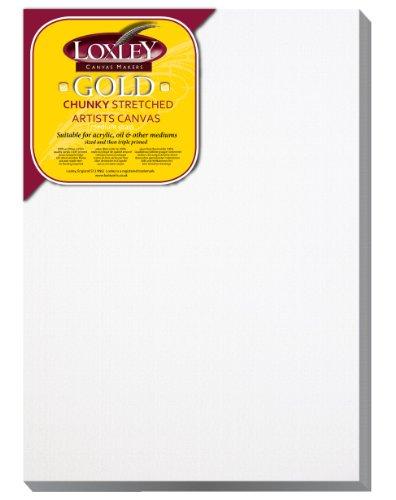 Loxley Gold LCC-1410 - Lienzo preestirado, Color Blanco