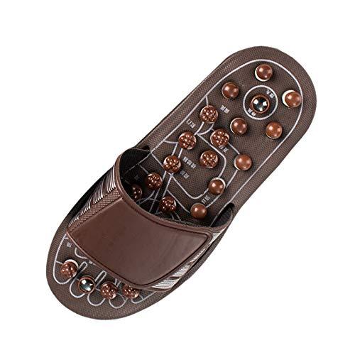 TOOGOO Acupresión Masajeador de Pies Zapatillas de Masaje Zapatos Reflexología Sandalias Alivio Fascitis Plantar para Hombres Mujeres XL