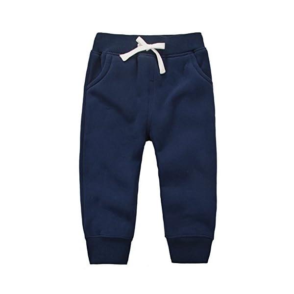 CuteOn Unisexo niños Elástico Cintura Algodón Calentar Pantalones Bebé Trousers Bottoms 1-5 Años 1