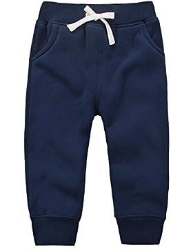 Casa Unisex Hosen Baby Lange Hosen Kinder Baumwolle Fleece Elastische Taille Sweatpants Winter Hosen