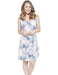 Cyberjammies 4104 Women s Isla White Leaf Print Night Gown Loungewear  Nightdress fcf0e5f09