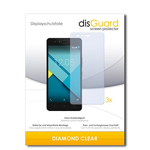 3 x disGuard® Schutzfolie BQ Aquarius M5 Bildschirmschutz Folie