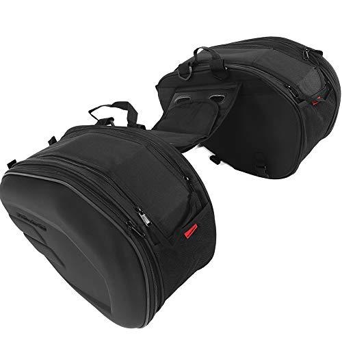 Motorrad Satteltasche, Oxford-Tuch Motorrad-Gepäcktasche mit Wasserdichte Abdeckung Maximale Einseitige Kapazität 29L Maximale Einseitige Lagerung 3kg Schwarz