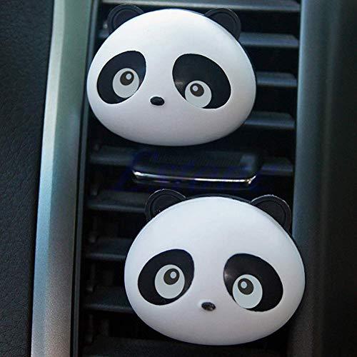 BIlinli 2X Diffusore Automatico di cruscotto per Ambienti Esterni Lampeggiante Panda Diffusore di Profumo Articolo Caldo per Auto