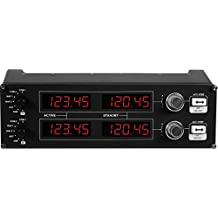 Logitech G Saitek Pro Flight Radiopaneel. zwart