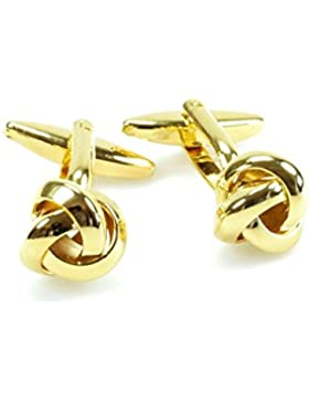 KNÖPFBAR 1 Paar traditionell, Business Herren Manschettenknöpfe / Cufflinks, vergoldeter und versilberter Manschettenknopf...