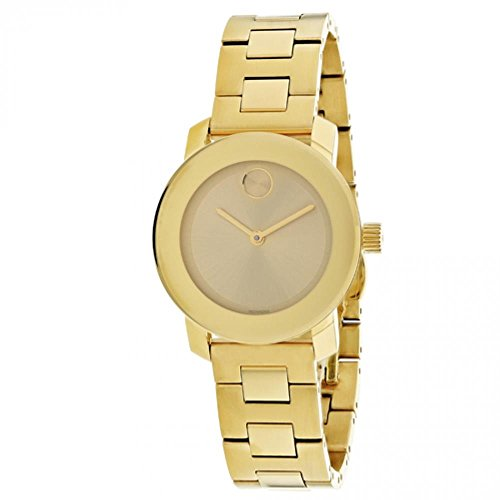 Movado Women's Bold 30mm Gold-Tone Steel Bracelet & Case Quartz Watch 3600434