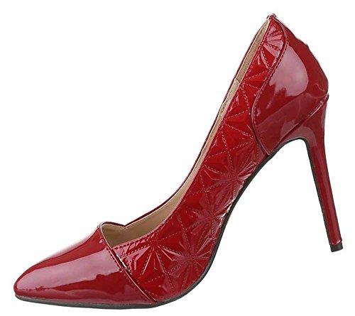 Frauen High Heels mit 10,5 cm Stiletto-Absatz in Schwarz-Braun und Größe 40 Klassische Abendschuhe in Lacklederoptik