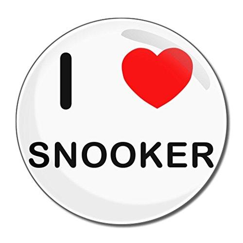 I Love Snooker - Kompakter Spiegel mit 55 mm Durchmesser
