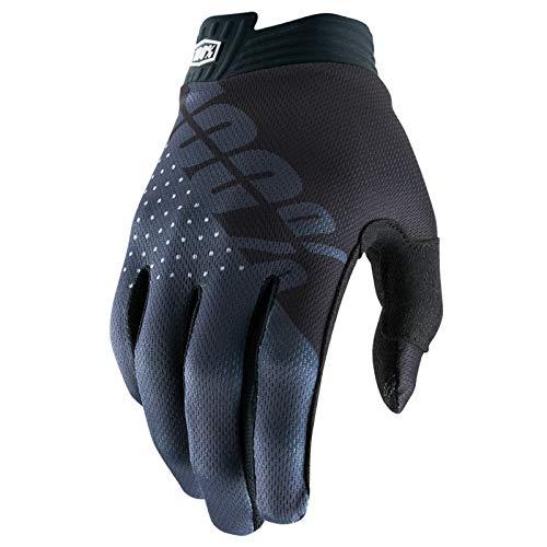 100% Prozent iTrack Handschuhe Clarino MTB DH MX Motocross Enduro Offroad Quad, HU-GLO-0002, Farbe Schwarz Grau, Größe L