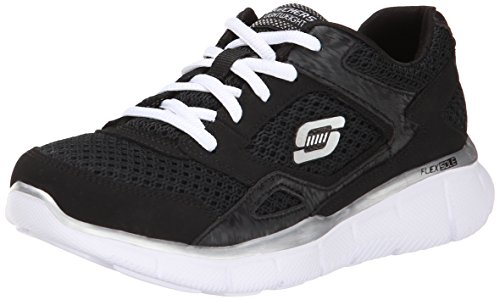 Skechers Equalizer, Boys' Indoor Court Shoes, Black (Bkw), 4 UK (37 EU)
