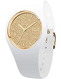 Ice-Watch - Ice Glitter White Gold - Montre Blanche pour Femme avec Bracelet en Silicone - 001352 (Medium)