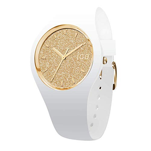 30b8a44b0ba4a Ice-Watch - ICE glitter White Gold - Montre blanche pour femme avec bracelet  en