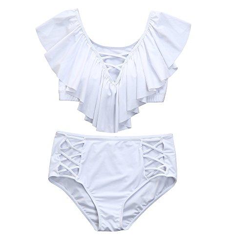 Beonzale Sommer Damen Bikinis Elegante Plus Size Kostüm Gepolsterter Badeanzug Monokini Push Up Bikini Sets ()