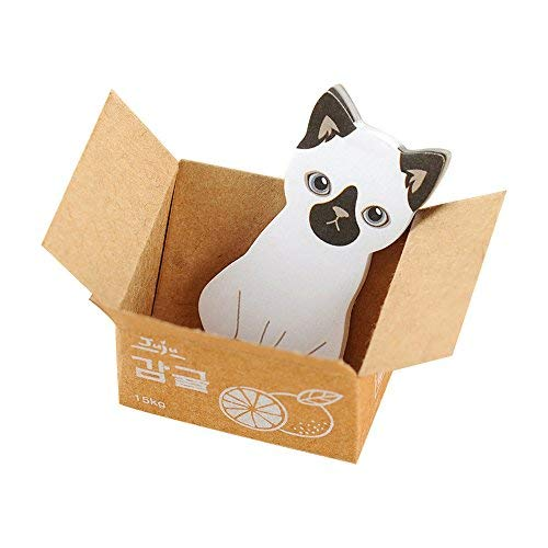 Lvcky 15Pack cute Cats foglietti adesivi autoadesivi segnapagina Animal note Pad MeMO set ufficio scuola cancelleria 45fogli/Pack nero orecchie