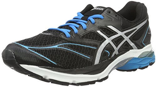 Asics Gel-Pulse 8, Scarpe da Corsa Uomo, Nero (Black/Silver/Blue Jewel), 45 EU