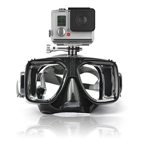 Gearmax® Tauchmaske Schwimmen Scuba Dive Schnorcheln Taucherbrille für Aktionssportkamera Helmkamera GoPro Hero 1, 2, 3, 3+ und 4