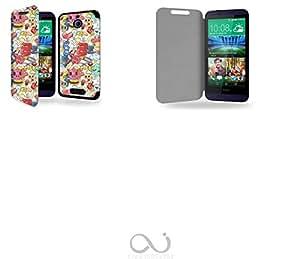 Housse Nokia Lumia 830 - Etui Folio à rabat Latéral Noir Magnétique + Coque Noire de Fixation + Support intégré pour Nokia Lumia 830 - Marque: Everglade
