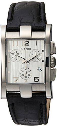 ROBERTO BIANCI WATCHES Women's 'Cassandra' Swiss Quartz Stainless Steel and Leather Casual Watch, Color:Black (Model: RB90361)