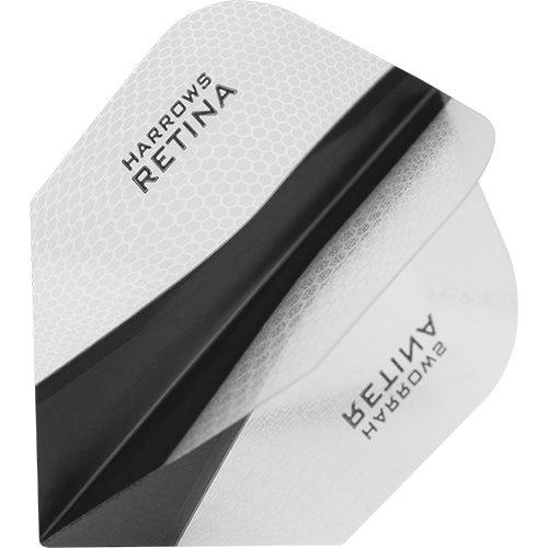 HARROWS retina-x Dart Flights-5sets (15)-100micron Extra Stark-Standard-klar (Klar, Dart Flights)