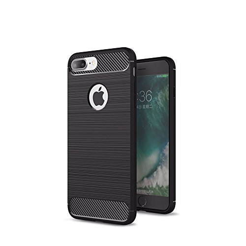 Crust CarbonX Brushed Metal & Carbon Fiber TPU Back Case Cover For Apple iPhone 7 Plus (5.5 Inch), Shock Proof Slim Armor - Black  available at amazon for Rs.449