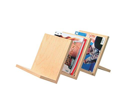 werkstatt-design Zeitschriftenhalter 3-fach aus Holz, Buche Multiplex lackiert