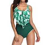 Bikini-Set,Niedlich Sexy Neckholder Bikini Neuen Trend Strand Print Badeanzug Set Ifoundyou Badeanzug Strandkleidung