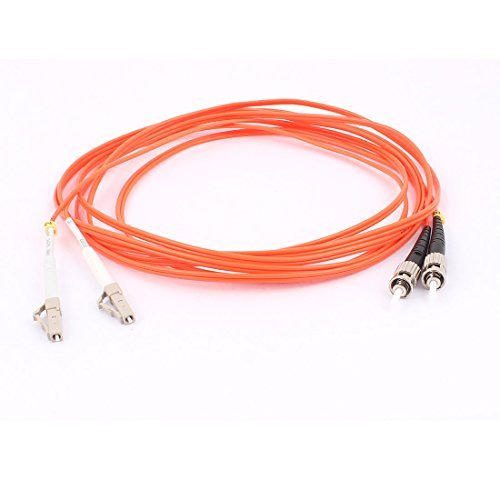 DealMux 3.0M 50/120 Jumper Cable Duplex Multimode LC-ST Fiber Optic Patch Cord -