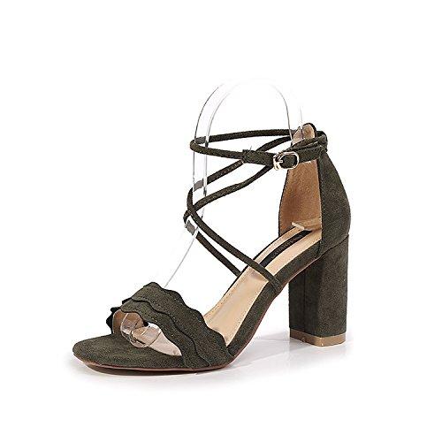 i tacchi di moda i tacchi cross. scarpe suede shoes con comodo, signore, i tacchi alti 35