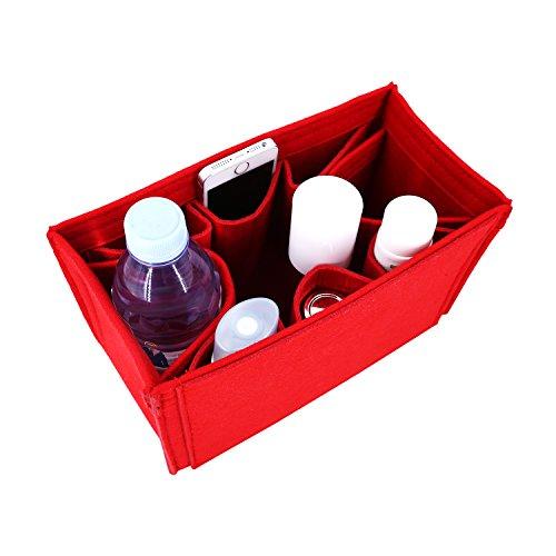 Winter & Co.´s stilvoller Taschenorganizer | in fünf Farben drei Größen Medium Large X-Large | leicht, weich und biegsam | bringt Ordnung und Übersicht in Deine Tasche (Rot, X-Large) (X-large-tasche)