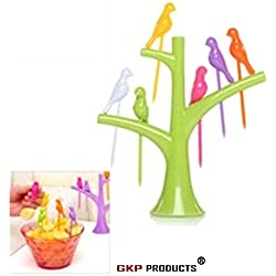 GKP Products ® Bird shape Plastic Fruit Fork  (Pack of 1)