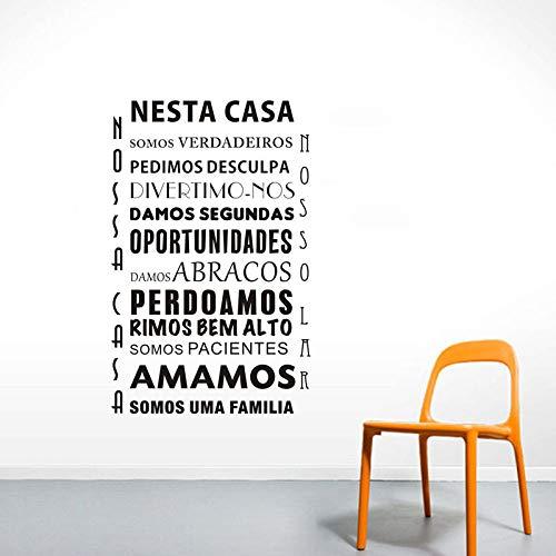 aus Aufkleber An Der Wand Portugiesischer Text Dekoration Für Wohnkultur Wandaufkleber PVC Abnehmbare Kunstwand 88 x 135 m ()