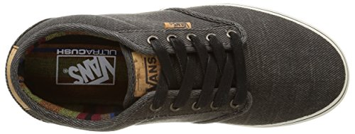 Vans Atwood Deluxe, Baskets Basses Homme Noir (Washed Twill/Black/Marshmallow)