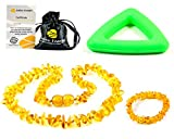 Collar de ambar + Pulsera - De la Máxima Calidad Certificado Genuino Collar de Ámbar Báltico / Rápido Entrega / 100 Días de Garantía de Devolución de Dinero! (Honey)