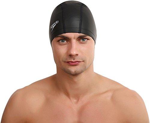 Speedo 8-720640001, cuffia da nuoto unisex, nero, taglia unica