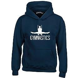 iClobber Gymnastics Hoodie Boys Gymnastics Word Still Rings Design
