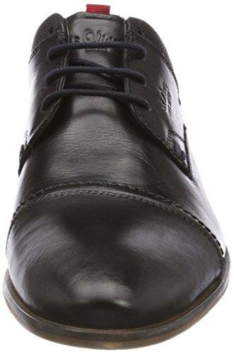 s.Oliver 13213, Derbys Homme Noir (Black)
