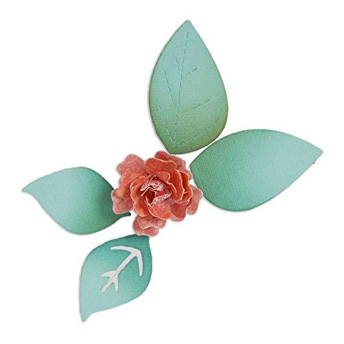 Sizzix Blume/Blüte mit Blättern 3D-Sizzlits sterben