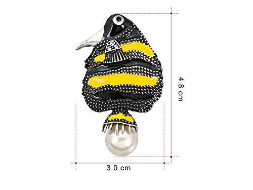 XeibD Mode New Bird Brosche Hochzeit Bankett Dekoration Corsage für Frauen Geschenk (schwarz +...