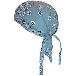 Bandana pañuelo para la cabeza Paisley Graublau Talla única