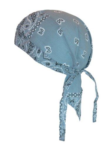 Bandana Cap Kopftuch Paisley Graublau (Kleidung Bandana)