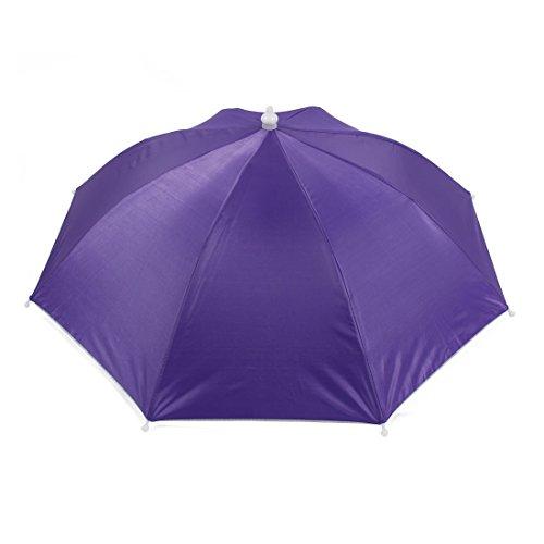 Schirmhut Regenschirm Freien Angeln Camping Lila Hut Mütze