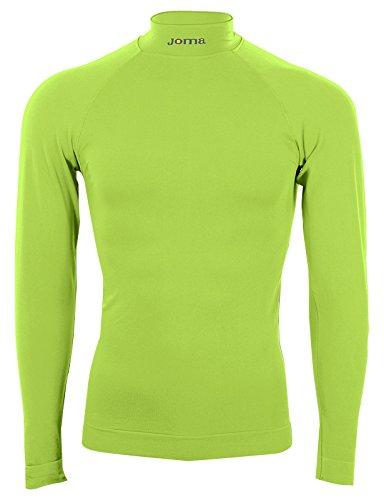 Joma Brama - Camiseta térmica para niños de 12-14 años, Color Verde flúor
